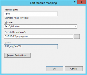 Edit Module Mapping - PHP_via_FastCGI