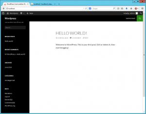 Wordpress Hello World
