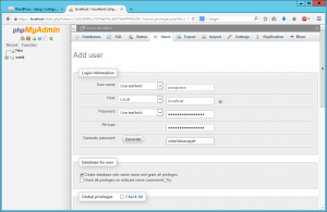 Wordpress setup 2