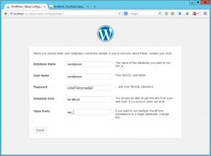 Wordpress setup 3