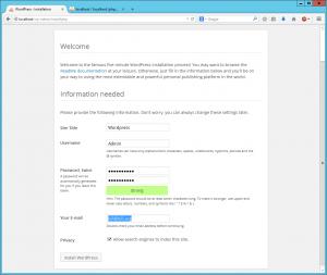 Wordpress setup 4