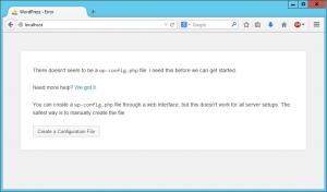 Wordpress setup 1